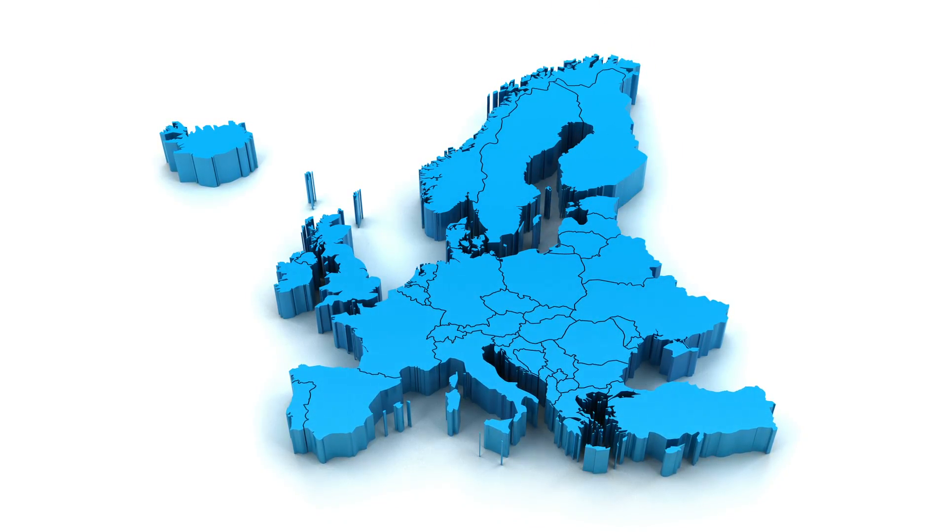 3 animation of europe map formed by individual countries